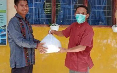 Pembagian paket beras dan launching Galang Dana Kemanusiaan